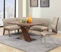 leather breakfast nook furniture. This Relatively Compact Corner Dining Set Combines Rich Hardwood Construction And Walnut Finish With Sleekly Cushioned Leather Breakfast Nook Furniture E