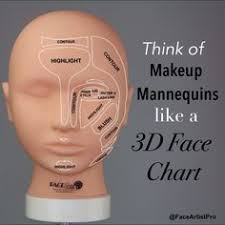 makeup mannequin 3d face chart purchase yours at faceartistpro