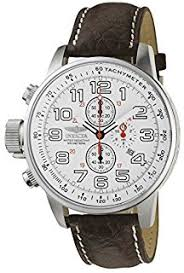 amazon com invicta men s 2770 force collection stainless steel invicta men s 2771 force collection stainless steel left handed watch brown leather