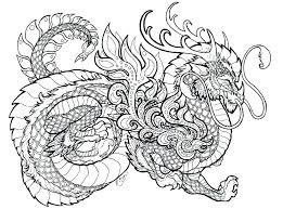 Free Dragon Coloring Pages Fire Breathing Realistic