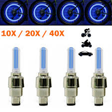 Details About 10 40x Blue Led Tyre Wheel Valve Cap Lights Waterproof Car Bicycle Motorcycle Ss