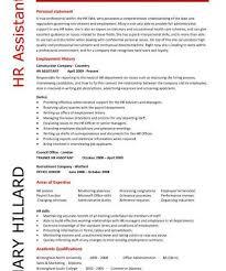 capricious sample human resources resume 11 hr assistant cv