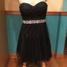City Studio Dress Size Chart Black A Line Formal Dress Worn Once