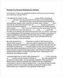 Examples Of Personal Statements 8 Personal Statement Examples Samples Examples