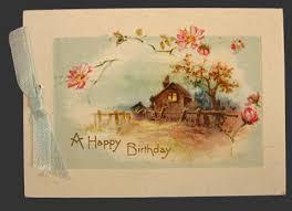 Card Bday 1928 Vintage Happy Birthday Card