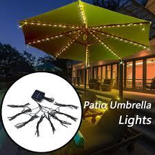Cheap Umbrella Lights Dropshipping 72led Patio Umbrella Lights Waterproof Outdoor