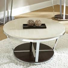 Steve Silver Bosco Round Faux Marble Coffee Table With Casters:  Amazon.co.uk: Kitchen U0026 Home