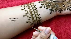 Mehndi Design Front Eid Rakhi 2019 Special Easy Stylish Jewellry Mehndi Design For Front Hand Arham Mehndi Designs