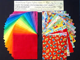 Quilt Kits & Quilts for sale : Strawberry Fayre Fabrics & Crackerjack Cot Quilt Kit Adamdwight.com