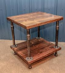 Superior Industrial Wood And Pipe End Table/Rustic End Table/Industrial Side Table /Industrial Home Design Ideas