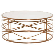 unique round gold coffee table of