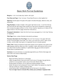 teaching mla format mla format guidelines