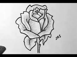Small Picture How to Draw A Rose flower image Easy Drawing with shading YouTube
