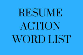 Action Words For Resume Delectable Resume Action Word List KelleyConnect Kelley School Of Business