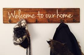 Home Coat Rack Welcome to our home coat rack Rustic wood entryway storage 1