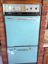 vintage double wall oven the color