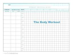 Blank Workout Logs Workout Log Template Excel Fresh Blank Strength Training
