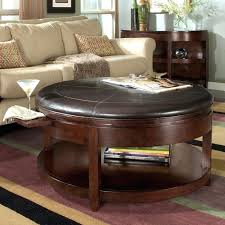 round leather coffee table ottoman round coffee table ottoman chair round table wood and foam covered