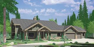 10086 large ranch house plan featuring gable roofs