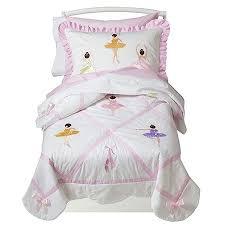 Pink Ballerina Toddler Girl Comforter Bedding 5pc Bed in a Bag Set u0026 Room  Decor