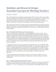 PDF) Statistics and Research Design: Essential Concepts for Working  Teachers. English teaching forum vol 39(3) p39-46