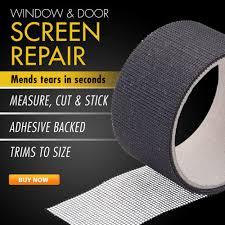 Decorating fixing screen door images : Window & Door Screen Repair Tape | AsSeenOnTV.com™ Store