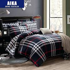 red tartan bedding cotton queen king size bedclothes plaid stripe bed sheet set bedding set bedclothes
