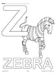 Small Picture Letter Z Alphabet Coloring Pages 3 FREE Printable Versions