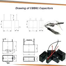 ceiling fan capacitor cbb61 black fan capacitor 3 wires ac ceiling