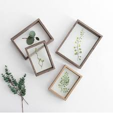 creative plant specimens double sided acrylic plastic frame solid wood plexiglass decorative frame diy art picture photo uk 2019 from rudelf