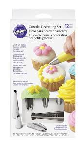 Cupcake Kitchen Decor Sets Amazoncom Wilton 2104 6667 12 Piece Cupcake Decorating Set