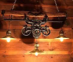 gorgeous antique rustic hay trolley yoke chandelier barn cabin light by lukesnhyde on s