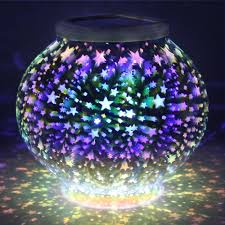 Us 14 74 40 Off Mosaic Ball Led Solar Light Color Changing Stars Waterproof Outdoor Solar Powered Lawn Night Light For Garden Party Decoration In