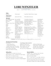Audition Resume Format