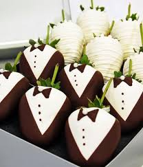 bride groom chocolate covered strawberries 12 pieces
