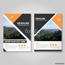 orange black vector business proposal leaflet brochure flyer template design book cover layout design
