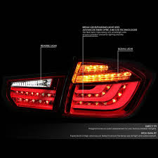 Led Lights For 2013 Bmw 328i 2013 15 Bmw 3 Series F30 F31 4dr Pair Of Red Clear Lens