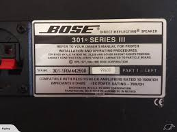 bose 301 series iii. click to enlarge photo bose 301 series iii y
