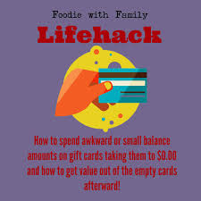 lifehack how to use up small balances on gift cards and get value from empty ones