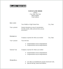 Printable Resume Form Resume Templates Free Printable Agarvain Org