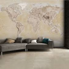 1 wall neutral world map atlas wallpaper mural wall art w4pl neutralmap 001