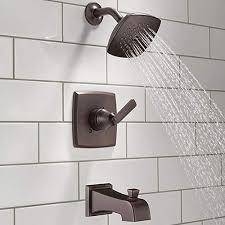 delta faucet single handle tub shower faucets