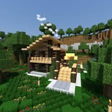 modern wooden minecraft house