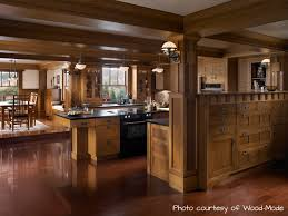 kitchen design cabinets traditional light:  interactive kitchen design ideas with oak exotic wood kitchen cabinets and brown wood ceramic tile