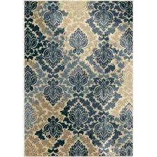 weather resistant outdoor rugs damask multi fl 8 ft x ft indoor outdoor area rug