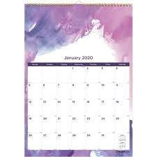School Calendar Template 2020 17 Rediform Passion Wall Calendar Yes Monthly January