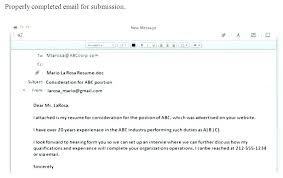 Example Of Sending Resume Via Email Plus Sample Email Body For Simple How To Send Resume Via Email