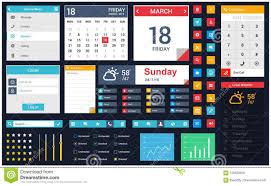 Great User Interface Design Mobile App User Interface Design Vector Stock Vector