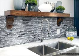 Gray And White Tile Black Mosaic Kitchen Grey Backsplash ...
