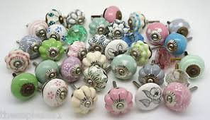 Image is loading Vintage-Ceramic-Knobs-by-These-Please-Cupboard-Door-
